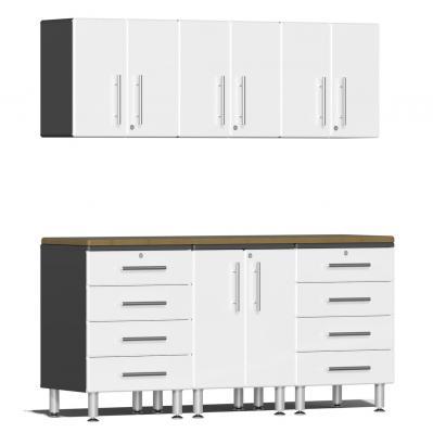 Ulti-MATE Garage 2.0 Series 7-Piece  Workstation Kit Starfire White Metallic
