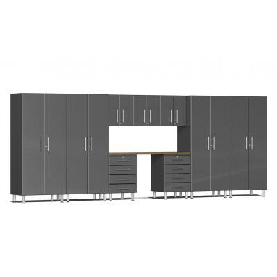 Ulti-MATE Garage 2.0 Series 10-Piece Kit with Recessed Worktop Graphite Grey