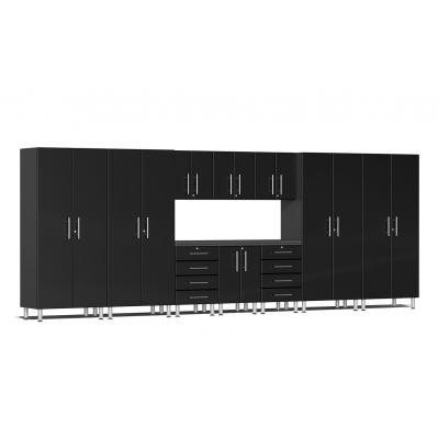 Ulti-MATE Garage 2.0 Series 11-Piece Kit with Workstation Midnight Black