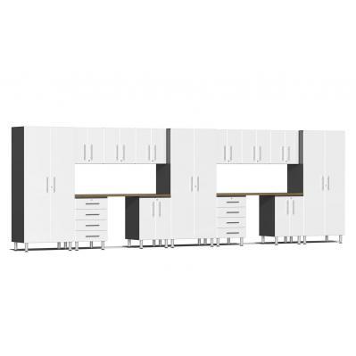 Ulti-MATE Garage 2.0 Series 15-Piece Kit with Dual Workstation Starfire White Metallic