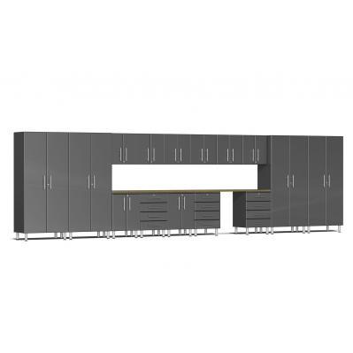 Ulti-MATE Garage 2.0 Series 16-Piece Super-System Graphite Grey