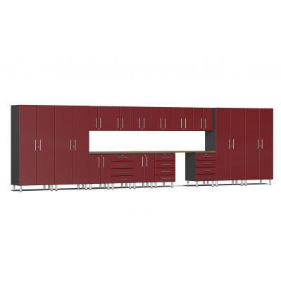 Ulti-MATE Garage 2.0 Series 16-Piece Super-System Ruby Red Metallic