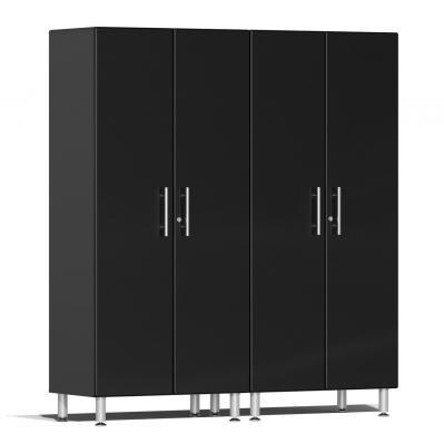 Ulti-MATE Garage 2.0 Series 2-Pc Tall Cabinet Kit Midnight Black