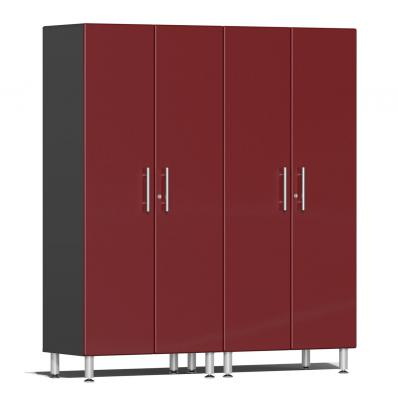 Ulti-MATE Garage 2.0 Series 2-Pc Tall Cabinet Kit Ruby Red Metallic