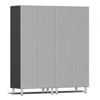 Ulti-MATE Garage 2.0 Series 2-Pc Tall Cabinet Kit Stardust Silver Metallic