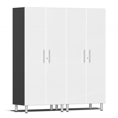 Ulti-MATE Garage 2.0 Series 2-Pc Tall Cabinet Kit Starfire White Metallic