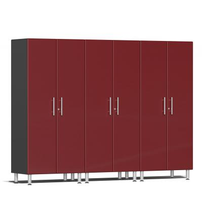Ulti-MATE Garage 2.0 Series 3-Pc Tall Cabinet Kit Ruby Red Metallic