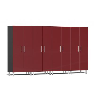 Ulti-MATE Garage 2.0 Series 4-Pc Tall Cabinet Kit Ruby Red Metallic