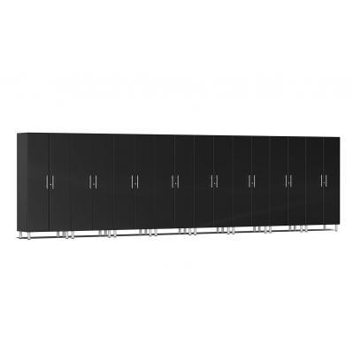 Ulti-MATE Garage 2.0 Series 8-Piece Tall Cabinet Kit Midnight Black