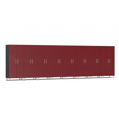 Ulti-MATE Garage 2.0 Series 8-Piece Tall Cabinet Kit Ruby Red Metallic