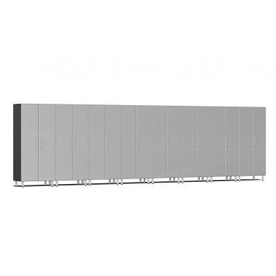 Ulti-MATE Garage 2.0 Series 8-Piece Tall Cabinet Kit Stardust Silver Metallic