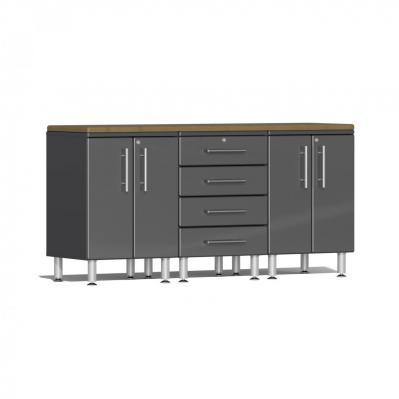 Ulti-MATE Garage 2.0 Series 4-Piece Workstation Kit Graphite Grey