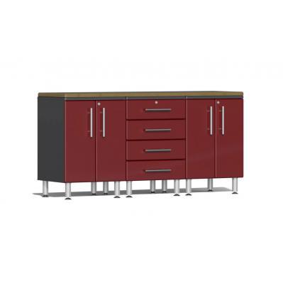 Ulti-MATE Garage 2.0 Series 4-Piece Workstation Kit Ruby Red Metallic