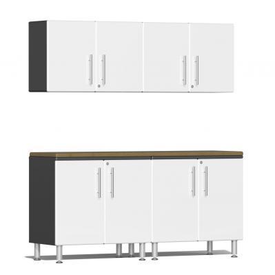Ulti-MATE Garage 2.0 Series 5-Piece Workstation Kit Starfire White Metallic