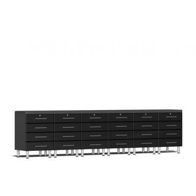 Ulti-MATE Garage 2.0 Series 8-Piece Dual Workstation Kit Midnight Black