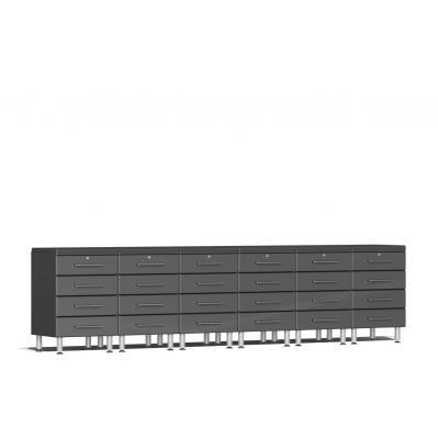 Ulti-MATE Garage 2.0 Series 8-Piece Dual Workstation Kit Graphite Grey