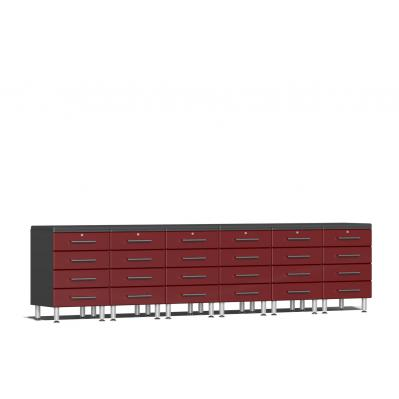 Ulti-MATE Garage 2.0 Series 8-Piece Dual Workstation Kit Ruby Red Metallic