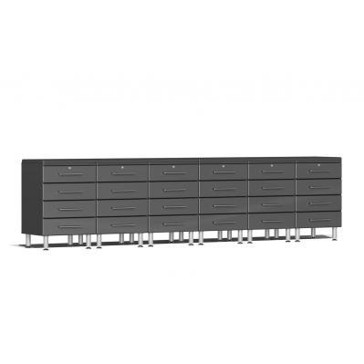 Ulti-MATE Garage 2.0 Series 8-Piece Dual Workstation Kit - Graphite Grey