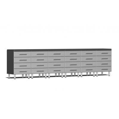 Ulti-MATE Garage 2.0 Series 8-Piece Dual Workstation Kit - Stardust Silver Metallic