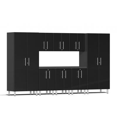 Ulti-MATE Garage 2.0 Series 9-Piece Kit with Worktop Midnight Black