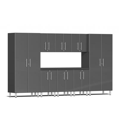 Ulti-MATE Garage 2.0 Series 9-Piece Kit with Worktop Graphite Grey