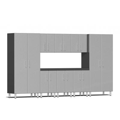 Ulti-MATE Garage 2.0 Series 9-Piece Kit with Worktop Stardust Silver Metallic