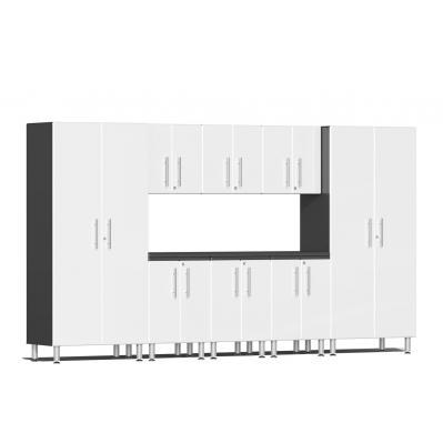 Ulti-MATE Garage 2.0 Series 9-Piece Kit with Worktop Starfire White Metallic
