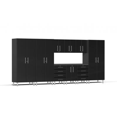 Ulti-MATE Garage 2.0 Series 10-Piece Kit with Recessed Worktop Midnight Black
