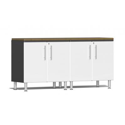 Ulti-MATE Garage 2.0 Series 3-Piece Workstation Kit Starfire White Metallic