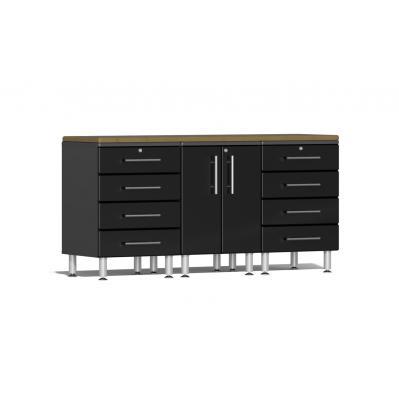 Ulti-MATE Garage 2.0 Series 4-Piece Workstation Kit Midnight Black
