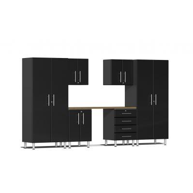 Ulti-MATE Garage 2.0 Series 7-Piece Kit with Workstation Midnight Black