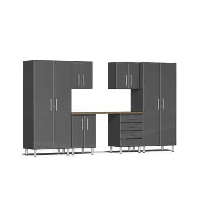 Ulti-MATE Garage 2.0 Series 7-Piece Kit with Workstation Graphite Grey