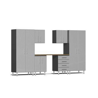 Ulti-MATE Garage 2.0 Series 7-Piece Kit with Workstation Stardust Silver Metallic