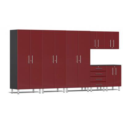 Ulti-MATE Garage 2.0 Series 7-Piece Kit Ruby Red Metallic