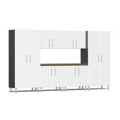 Ulti-MATE Garage 2.0 Series 7-Piece Kit with Workstation Starfire White Metallic