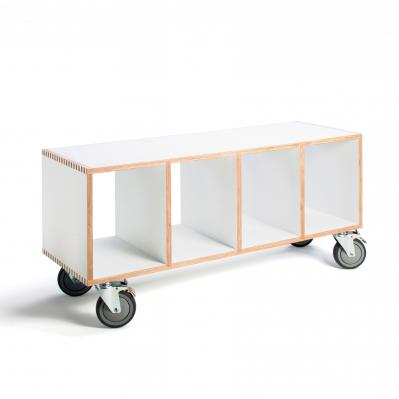 BBox4 - White laminate with casters