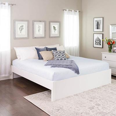 King Select 4-Post Platform Bed, White
