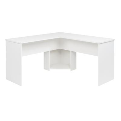 L-shaped Desk, White