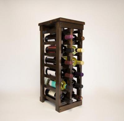 Classic Wood 12 Bottle Espresso Wine Rack