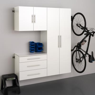 White HangUps 60 inch Storage Cabinet Set B - 3pc