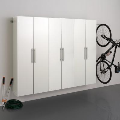 White HangUps 90 inch Storage Cabinet Set D - 3pc