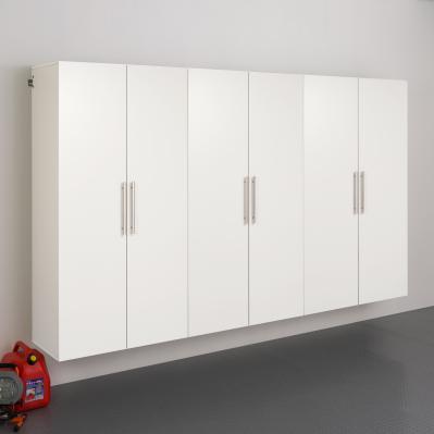 White HangUps 108 inch Storage Cabinet Set E - 3pc