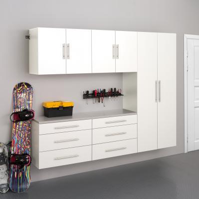 White HangUps 90 inch Storage Cabinet Set H - 5pc