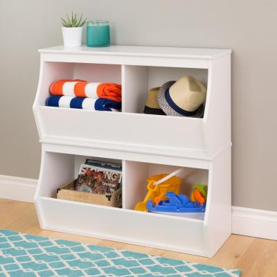 Monterey Stacked 4-Bin Storage Cubby