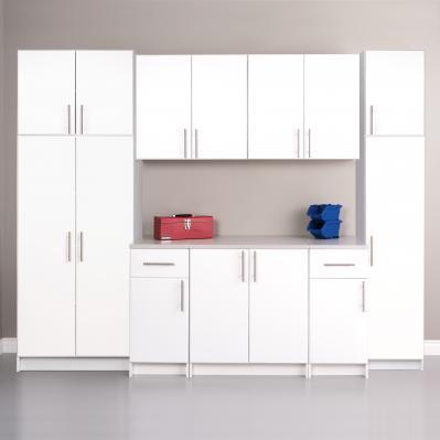 White Elite 112 inch Storage Set A - 9 pc