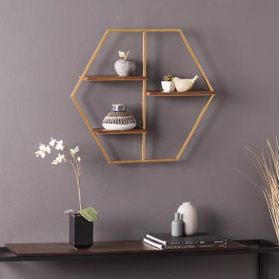Ilderton Hexagon Decorative Wall Shelf