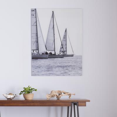 Three Sails - Glass Wall Art