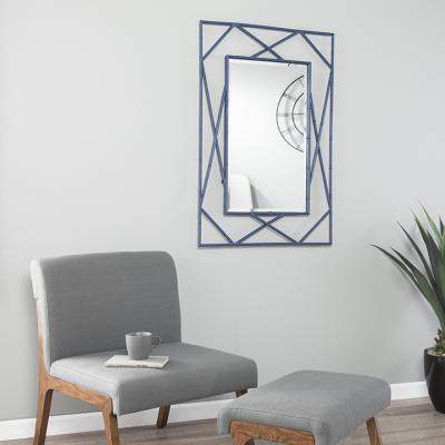 Belews Geometric Wall Mirror - Navy
