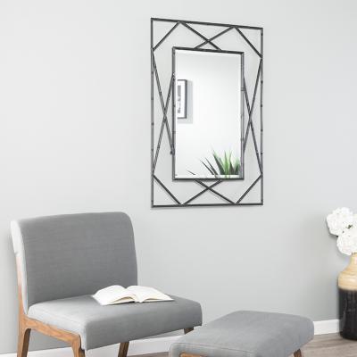 Belews Geometric Wall Mirror - Black