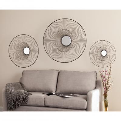 Holly & Martin Whoso Mirrored Wall Sculptures -  3Pc Set